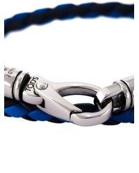 Tod's   Blue Braided Double Strap Bracelet for Men   Lyst