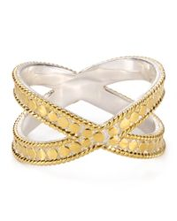 Anna Beck | Metallic X Ring | Lyst
