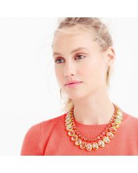 J.Crew - Yellow Layered Crystal Necklace In Lemon - Lyst