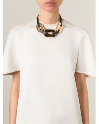 Fendi | Metallic Chain Necklace | Lyst