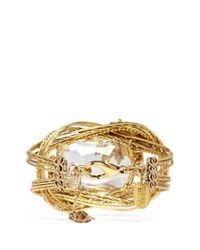 Erickson Beamon | Metallic 'cosmic Code' Swirl Wire Crystal Bracelet | Lyst