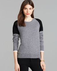 Equipment | Gray Sweater - Sloane Color Block Crewneck | Lyst