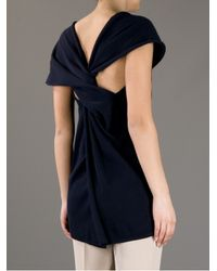 Gustavo Lins - Black Knotted Tank Top - Lyst