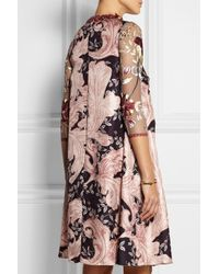 Biyan - Pink Lotta Embroidered Tulle And Silk Dress - Lyst