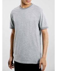 TOPMAN | Gray Ltd Montauk Surf Grey Ribbed T-shirt for Men | Lyst