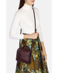 Karen Millen - Red Burgundy Mini Leather Bag - Lyst