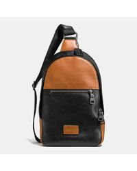 COACH | Black Campus Pack In Sport Calf Leather for Men | Lyst