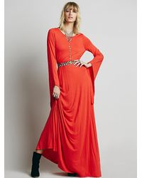 Free People | Red Back Lit Maxi | Lyst