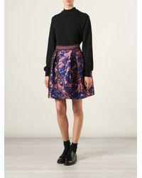 Pinko - Blue Ortrugo Jacquard Skirt - Lyst