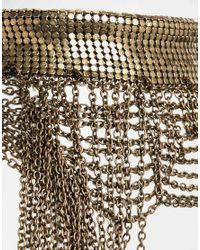 ASOS - Brown Premium Chainmail Statement Choker Necklace - Lyst