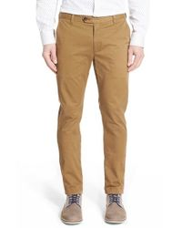 Ted Baker | Brown 'slimchi' Slim Fit Chinos for Men | Lyst