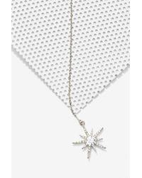 Nasty Gal - Metallic Lucky Star Lariat Necklace - Lyst