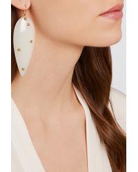 Aurelie Bidermann - White Liz Gold-plated Resin Earrings - Lyst