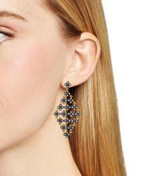Freida Rothman | Metallic Floral Kite Drop Earrings | Lyst