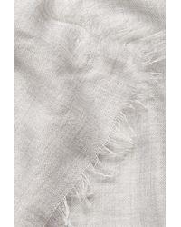 Brunello Cucinelli - Gray Cashmere-silk Scarf - Grey - Lyst