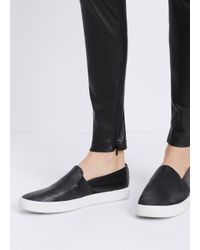 Vince - Black Blair Perforated Leather Sneaker - Lyst