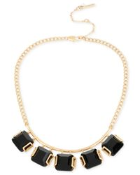 Kenneth Cole - Metallic Gold-tone Shaky Black Stone Collar Necklace - Lyst