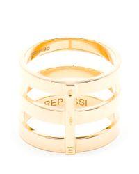 Repossi - White Berbère 18-Karat Gold Ring - Lyst