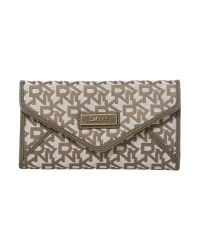 DKNY | Gray Saffiano Grey Large Envelope Purse | Lyst