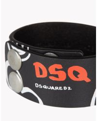 DSquared² - Black White Art Armlet for Men - Lyst