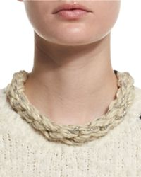 Brunello Cucinelli | Natural Monili-chain Rope Collar Necklace | Lyst
