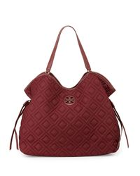 Tory Burch - Red Slouchy Baby Quilted Bag - Lyst