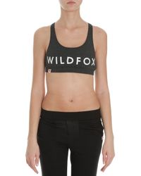 Wildfox   Black Spicegirl Cropped Top   Lyst