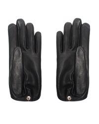 Yazbukey | Black Eyes Leather Gloves | Lyst