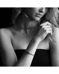 David Yurman | Metallic Petite Pave Labyrinth Singleloop Bracelet with Diamonds | Lyst