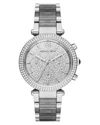MICHAEL Michael Kors | Gray 'parker' Bracelet Watch | Lyst