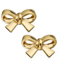 kate spade new york | Metallic Gold-Tone Bow Clip-On Earrings | Lyst