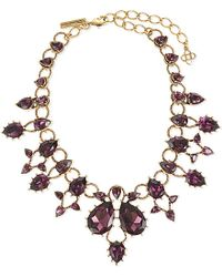 Oscar de la Renta | Purple Embellished Necklace | Lyst