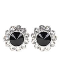 Miu Miu - Black Crystal-embellished Clip-on Earrings - Lyst