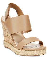 Charles by Charles David | Natural Oriel Platform Wedge Sandals | Lyst
