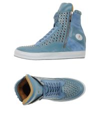 Cesare Paciotti Gray High-tops & Trainers