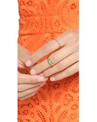 Monica Rich Kosann | Blue Protect Eye Ring Charm - Turquoise/Gold | Lyst