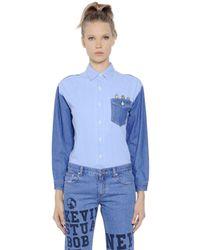 Steve J & Yoni P | Blue Embroidered Minions Cotton Denim Shirt | Lyst