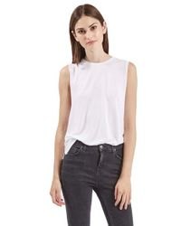 TOPSHOP | White Slouchy Muscle Tank | Lyst
