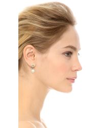 Ferragamo - Metallic Perla Blanca Earrings - Lyst