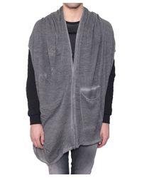 Tom Rebl - Gray Cardigan-Poncho Alpaca And Mohair Wool for Men - Lyst