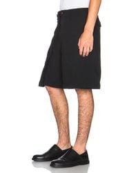 Comme des Garçons - Black Ester Double Cloth Fold Over Shorts - Lyst