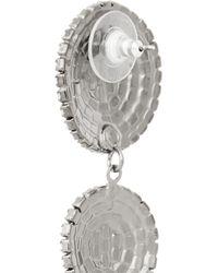 Elizabeth Cole - Metallic Hematite-Plated Swarovski Crystal Earrings - Lyst