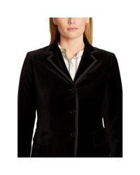 Ralph Lauren - Black Velvet Three-button Jacket - Lyst