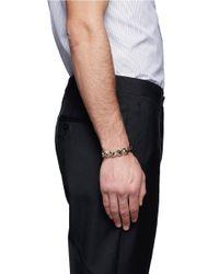 Valentino | Metallic Rockstud Chain Leather Bracelet for Men | Lyst