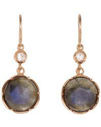 Irene Neuwirth - Pink Gemstone Double-drop Earrings - Lyst