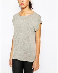 Daisy Street | Gray Space Dye Top With Open Drape Back | Lyst