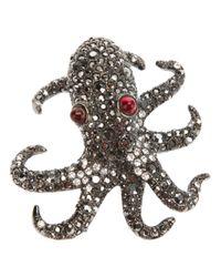 Kenneth Jay Lane - Metallic Octopus Pin - Lyst