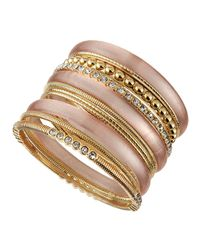 R.j. Graziano - Multicolor Mixed-Metal Multi-Bangle Set - Lyst