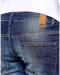 Grain Denim - Blue Slim Dirt Wash Jeans for Men - Lyst