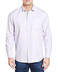 Tommy Bahama | Purple 'island Twill' Island Modern Fit Sport Shirt for Men | Lyst